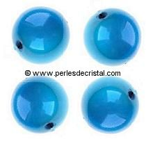 20 PERLES MAGIQUES/MAGIC RONDES 8MM COLORIS CAPRI BLUE