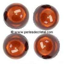 20 PERLES MAGIQUES/MAGIC RONDES 8MM COLORIS COFFEE
