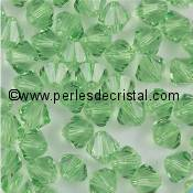50 BICONES 4MM CRISTAL SWAROVSKI COLOURS LIGHT AZORE #5301