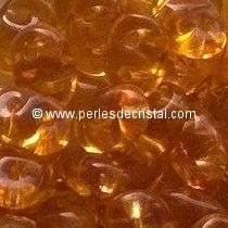 10GR SUPERDUO 2.5X5MM GLASS COLOURS TOPAZ 10060