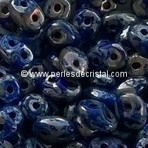 10GR SUPERDUO 2.5X5MM GLASS COLOURS OPAQUE SAPPHIRE PICASSO