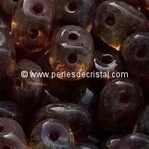10GR SUPERDUO 2.5X5MM EN VERRE COLORIS CRYSTAL TRAVERTIN DARK
