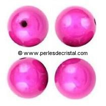 20 ROUNDS BEADS 8MM MAGIC COLOURS FUCHSIA