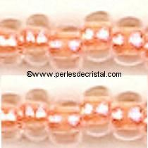 10gr PERLES MINI ROCAILLES TCHEQUE ORNELA 11/0 - 2MM COLORIS LIGHT ORANGE SILVER LINED - SAUMON