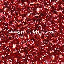 10G Mini Seed beads ORNELA 11/0 - 2mm COLOURS SIAM/RUBY SILVER LINED - 0011