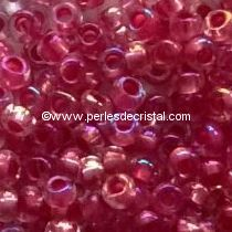 10G Mini Seed beads ORNELA 11/0 - 2mm COLOURS DARK PINK IRIS AB