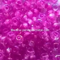 10G Mini Seed beads ORNELA 11/0 - 2mm COLOURS PINK FUCHSIA FLUO LINED IRIS AB