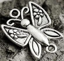 CONNECTOR ANIMAL : BUTTERFLY SILVER