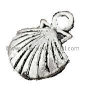 CHARMS : SHELL SILVER  14.5 X11.5MM