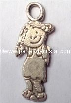 CHARMS / PENDENT : LITTLE GIRL SILVER  18 X 6.5MM