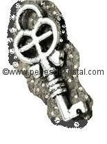 CHARMS PENDENT : KEY SILVER  18 X 8MM