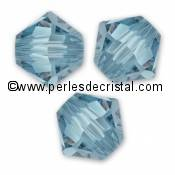 20 TOUPIES 6MM CRISTAL SWAROVSKI COLORIS LIGHT SMOKED TOPAZ #5301