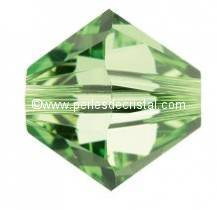 20 BICONES 6MM CRISTAL SWAROVSKI COLOURS PERIDOT #5301 GREEN