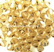 20 TOUPIES 6MM CRISTAL SWAROVSKI COLORIS LIGHT COLORADO TOPAZ #5301