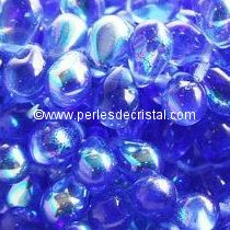 25 DROPS BOHEMIAN 6X9MM GLASS COLOURS SAPPHIRE AB