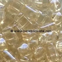 10GR RULLA 3X5MM EN VERRE COLORIS LIGHT TOPAZ LUSTER