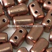 10GR RULLA 3X5MM EN VERRE COLORIS COPPER GOLD MAT 00030/01780