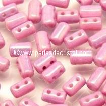 10GR RULLA 3X5MM EN VERRE COLORIS OPAQUE LIGHT ROSE CERAMIC LOOK 03000/14494