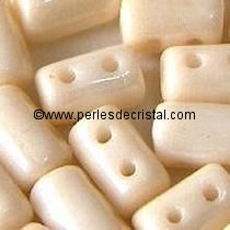 10GR RULLA 3X5MM GLASS COLOURS OPAQUE BEIGE CERAMIC LOOK 03000/14413