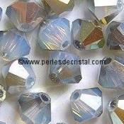 50 BICONES 4MM CRISTAL SWAROVSKI COLOURS WHITE OPAL STAR SHINE #5301