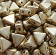10GR KHEOPS® BY PUCA® BEADS 6MM - TRIANGLE GLASS COLOURS SILVER