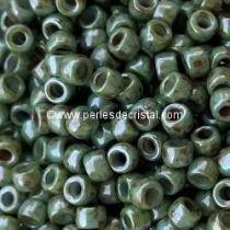10GR MATUBO Czech Glass Seed Beads 8/0 (3mm) COLOURS OPAQUE BLUE GREEN CERAMIC LOOK 03000/65431