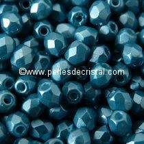 50 BOHEMIAN GLASS FIRE POLISHED FACETED ROUND BEADS 3MM COLOURS PASTEL EMERALD 02010/25043
