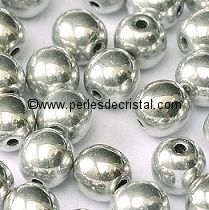 50 SMOOTH ROUND BEADS 4MM SILVER - LABRADOR 00030/27000