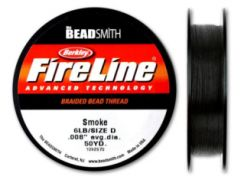 FIL FIRELINE EN NYLON 6LB - 0.12MM - COLORIS SMOKE GREY - BOBINE DE 46M (50YD)