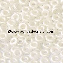 5GR O BEAD® 4X2MM GLASS COLOURS PASTEL WHITE 02010/25001