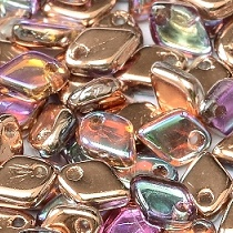 5GR DRAGON® SCALE BEAD 1.5X5MM EN VERRE COLORIS CRYSTAL COPPER RAINBOW - 00030/98533