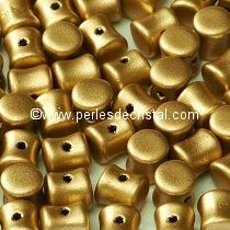 50 PELLETS / DIABOLO 4X6MM EN VERRE COLORIS LIGHT GOLD MAT - 01710