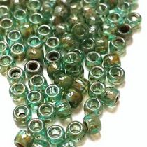 10GR MATUBO Czech Glass Seed Beads 8/0 (3mm) - COLOURS AQUAMARINE PICASSO - 60020/43400