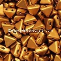 10GR KHEOPS® PAR PUCA® 6MM PERLES EN VERRE TRIANGLE COLORIS BRONZE GOLD MAT - BRONZE/DORE