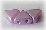 10GR KHEOPS® BY PUCA BEADS 6MM - TRIANGLE GLASS COLOURS PASTEL LIGHT LILA 02010/25011 - PINK/PURPLE
