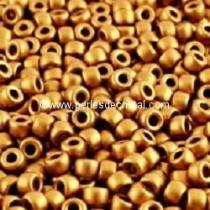 10GR ROCAILLE MATUBO 7/0 - 3.5MM COULEUR BRONZE GOLD MAT - BRONZE DORE OR MAT - 00030/01740