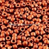 10GR ROCAILLE MATUBO 7/0 - 3.5MM COULEUR BRONZE RED MAT / BRONZE ROUGE MAT - 00030/01750