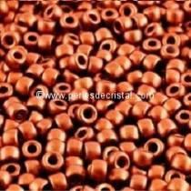 10GR ROCAILLE MATUBO 7/0 - 3.5MM COULEUR BRONZE RED MAT / BRONZE ROUGE MAT - 00030/01750