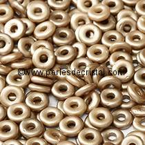 5GR O BEAD® 4X2MM EN VERRE COLORIS PASTEL LIGHT BROWN COCO 02010/25005