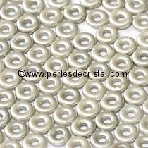 5GR O BEAD® 4X2MM EN VERRE COLORIS PASTEL LIGHT GREY SILVER 02010/25028