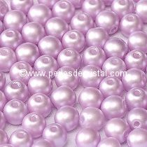 50 PERLES RONDES LISSES 4MM PASTEL LIGHT LILA ROSE/PINK - 02010/25011