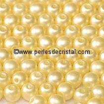 50 PERLES RONDES LISSES 4MM PASTEL CREAM / BEIGE - 02010/25039