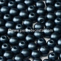50 SMOOTH ROUND BEADS 4MM PASTEL MONTANA BLUE - 02010/25042