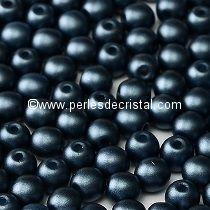 50 PERLES RONDES LISSES 4MM PASTEL MONTANA BLUE / BLEU - 02010/25042