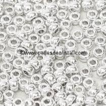 10gr PERLES ROCAILLES MIYUKI 11/0 - 2MM COLORIS CRYSTAL LABRADOR FULL - 55006 ARGENT - SILVER