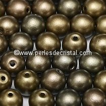 50 SMOOTH ROUND BEADS 4MM CRYSTAL GREY RAINBOW - ZINC IRIS - 00030/01670