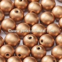 50 PERLES RONDES LISSES 4MM CRYSTAL VOLCANO - 00030/29942