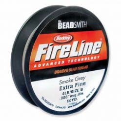FIL FIRELINE EN NYLON 4LB - 0.10MM - COLORIS SMOKE GREY - BOBINE DE 46M (50YD)