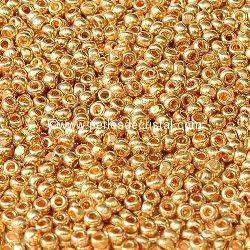 10G beads CHARLOTTE 11/0 - 2mm COLOURS LIGHT GOLD METALLIC 18304