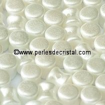 50 PELLETS / DIABOLO 4X6MM EN VERRE COLORIS PASTEL WHITE 25001